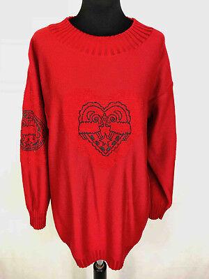 JC DE CASTELBAJAC vintage '80 Sweater Woman Oversize Woman Sweater SZ.M - 44