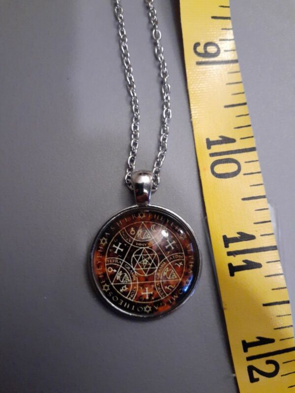 Wiccan Amulet Of Protection Silver Chain