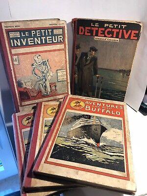 5 Livres anciens Av.du petit Buffalo, Le Petit Inventeur & Le Petit Détective