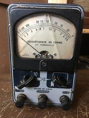 Hickok Tester -resistance In Ohms Model 4975-s