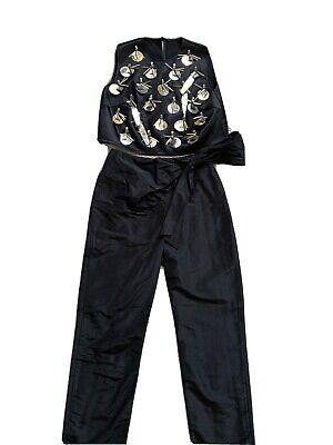 Isa arfen Designer 2 Piece Top Pants Set Size Small