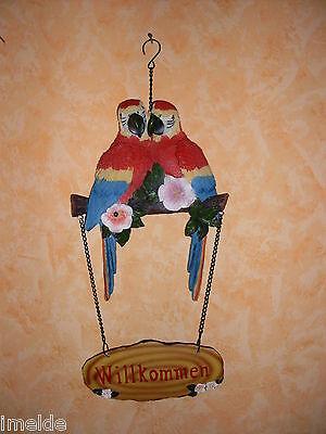 Türschild Ara Papagei Vogel mit Bewegungsmelder NEU und OVP einfach ansehen