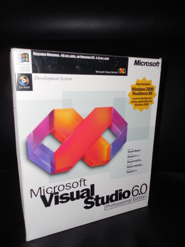 Microsoft Visual Studio Professional 6.0 PRO 6 Basic C Foxpro Compiler