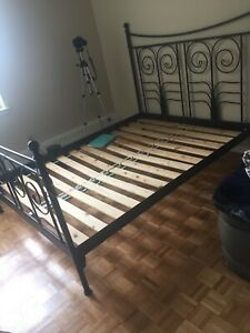 Beautiful Black Ikea QUEEN Bed Frame /Free Delivery
