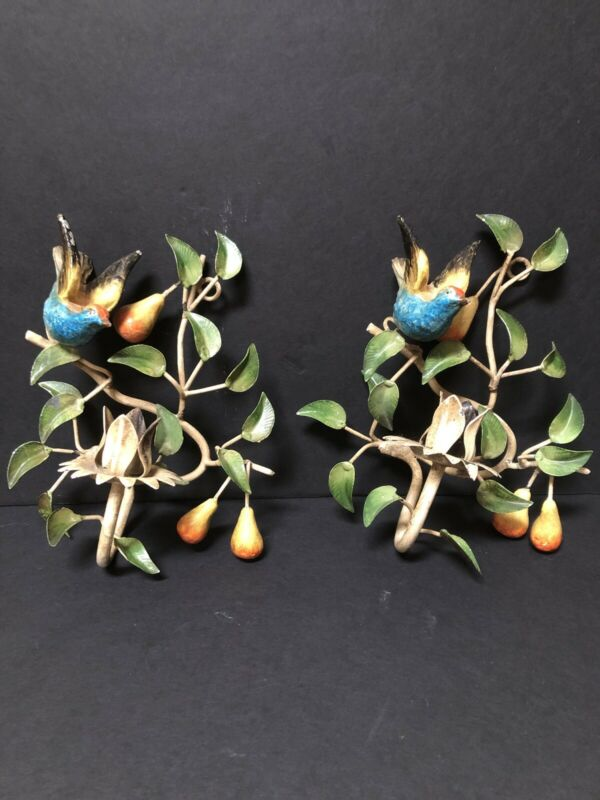 Vintage Candle Holders/to Hang On The Wall
