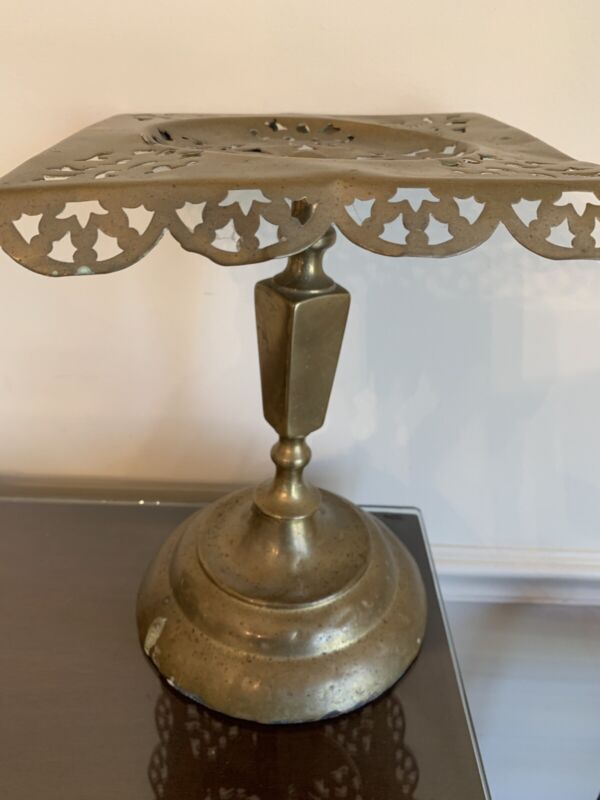 Antique Early 19th Century Brass Fireplace Teapot Pedestal or Trivet, Very Nice