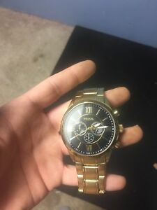 Gold plated fossil watch