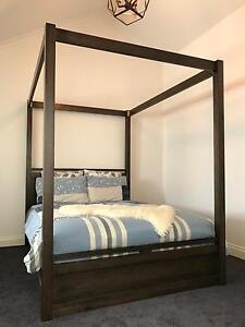 Fairly new modern queen size four poster bed! Carlton Melbourne City Preview