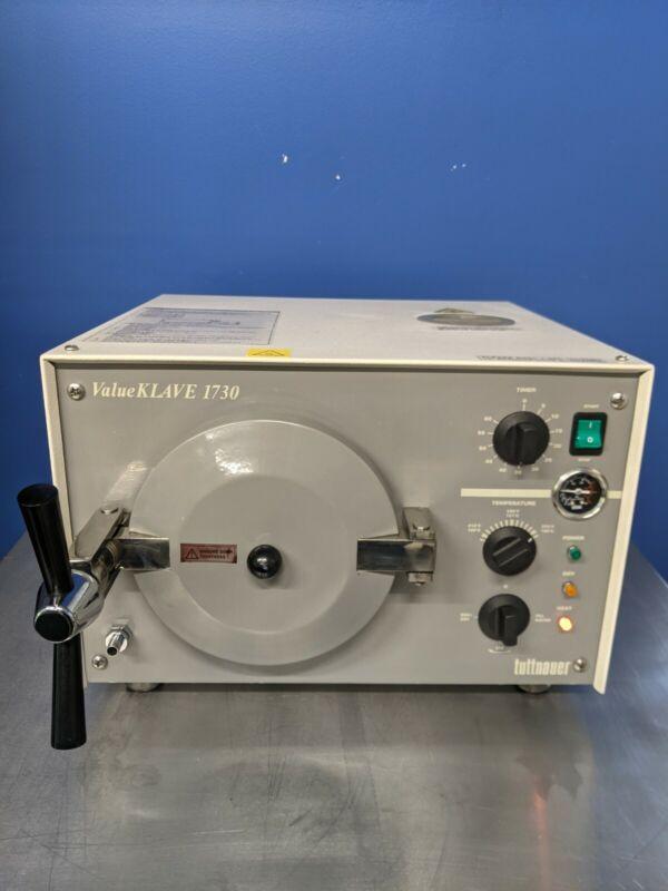Tuttnauer 1730 Valueklave Autoclave Steam Sterilizer 1730MK Fully Refurbished