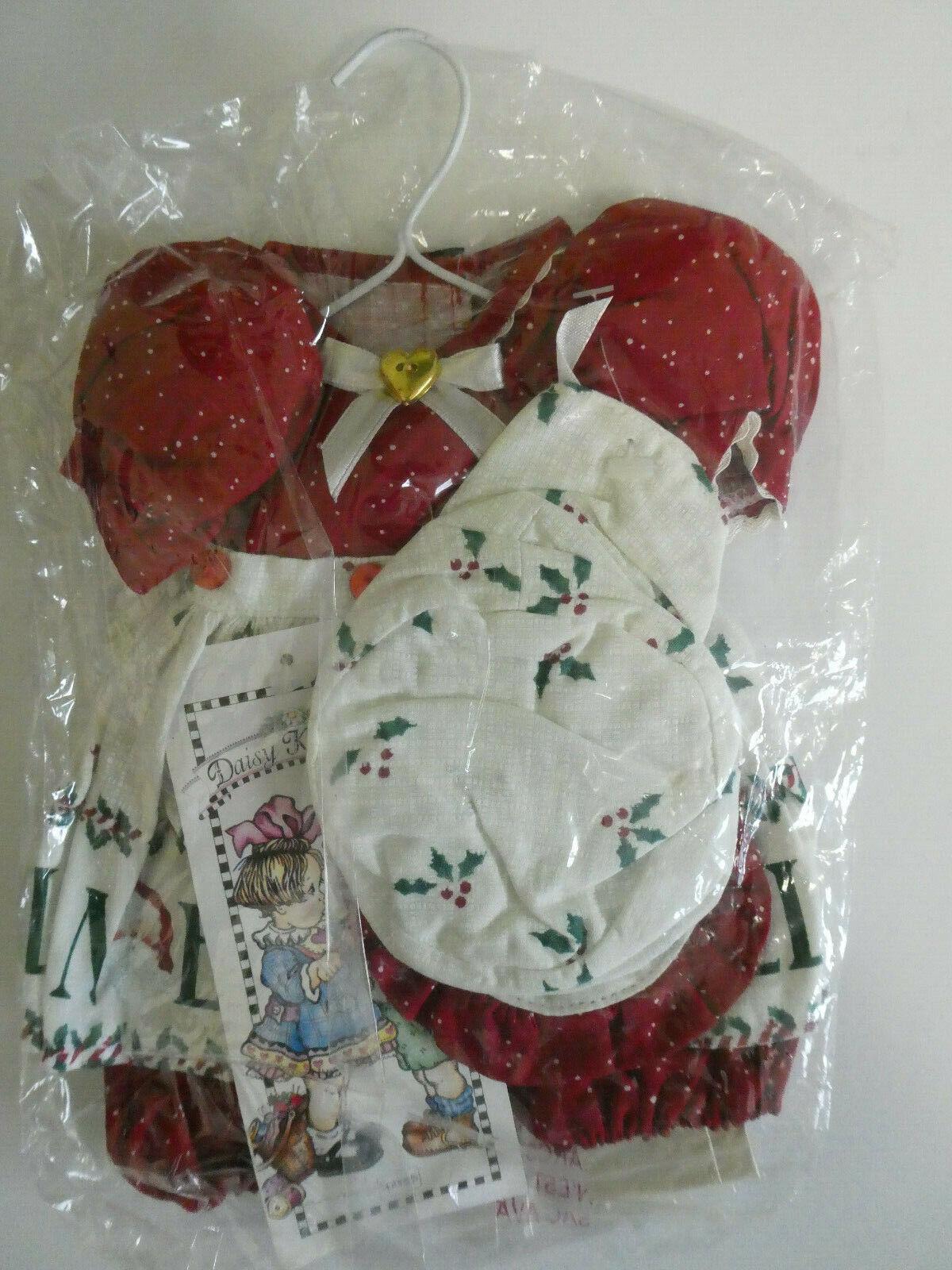 BRAND NEW DAISY KINGDOM RED APRON ROMPER HAT 4049-14593 - FITS 12 DOLL  - $19.99