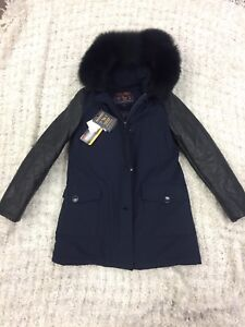 Brand New/Tagged Woolrich parka! Leather trim and fox fur hood!