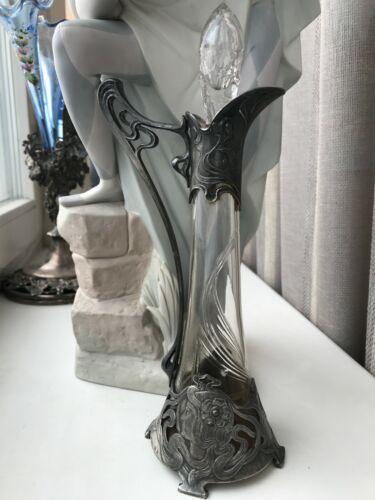 "Art Nouveau PLEWKIEWICZ WARSZAWA WMF Silver Plate Elegant Claret Jug 10"""