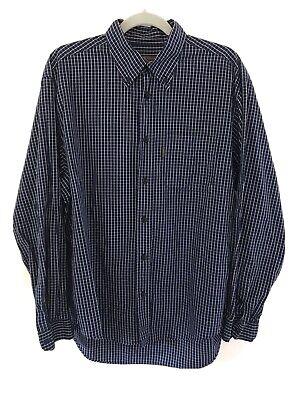 Vintage Katharine Hamnett Navy Check Shirt Large
