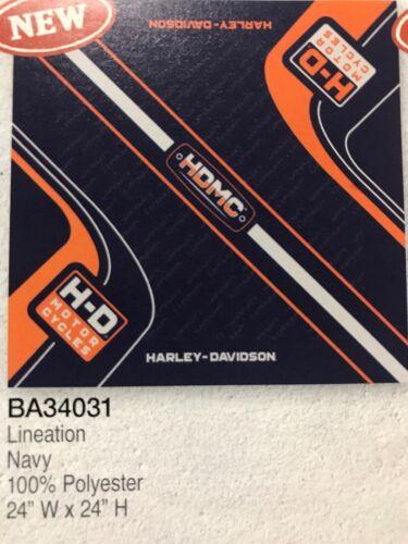 Harley-Davidson Men's Lineation Bandana - Navy, 24 x 24 inch
