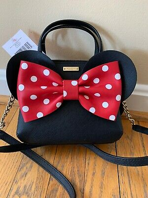 NWT Kate Spade Disney Minnie Mouse Red Bow Mini Maise Crossbody Purse PXRU6512