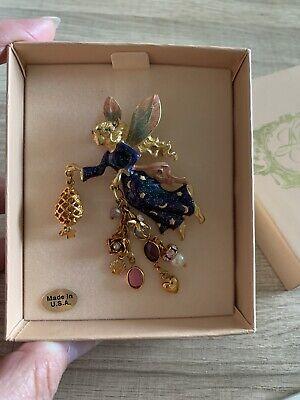 Kirks Folly TWINKLE THE TOOTH FAIRY Stunning Enamel Charm Glitter Brooch