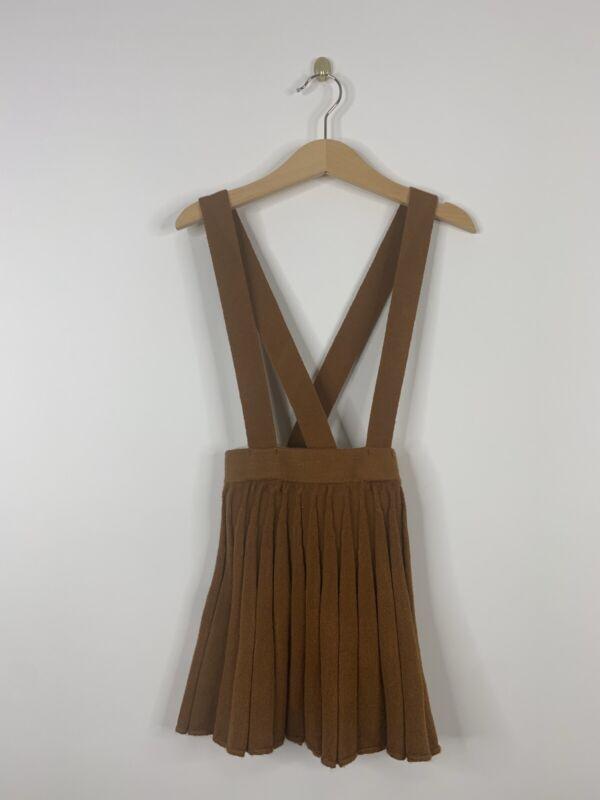 Zara Baby Girl Suspender Skirt Brown Size 4T 5T