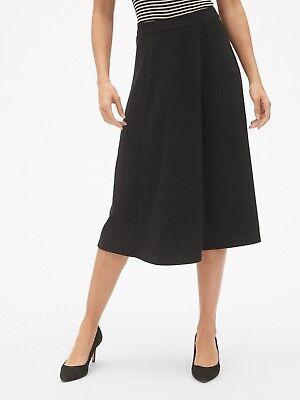 NWT**Gap Black Midi Circle Skirt *Ponte Knit* Size: 4  **$69.95**398639