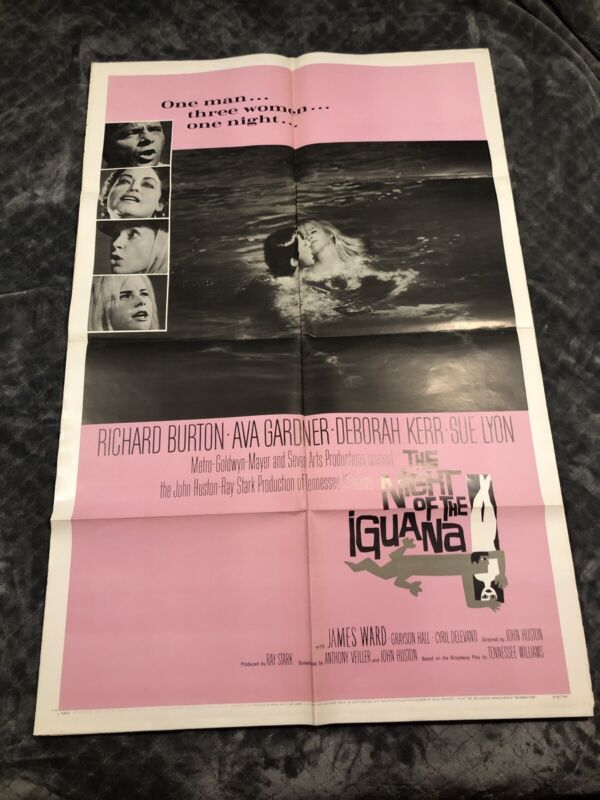 1964 The Night of the Iguana Movie Poster One Sheet 64/190
