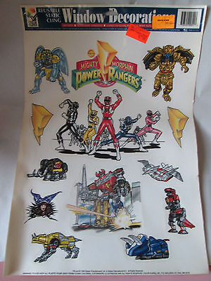 Power Ranger Decorations (1994 Saban 13 Mighty Morphing Power Ranger Window Cling Stickers Decoration)
