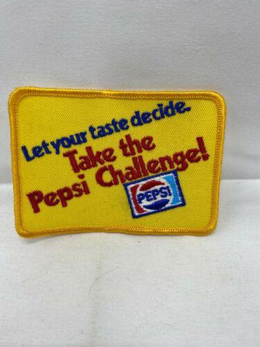 Take the Pepsi Challenge Let Your Taste Decide Yellow Souvenir Patch
