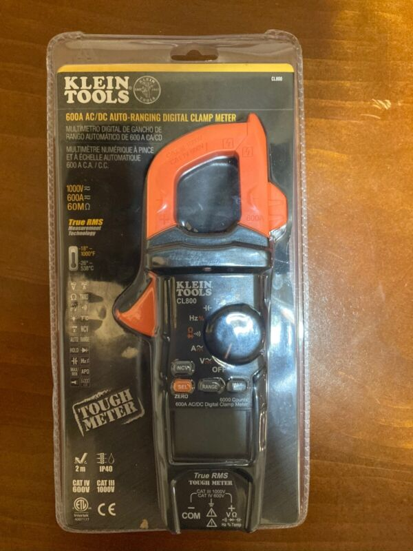 Klein Tools CL800 AC/DC True RMS Auto-Ranging Digital Clamp Meter