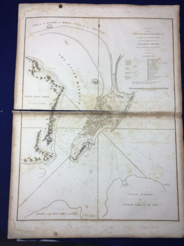 Antique 1796 Map China Macau Portugese Barrow Baker Islington Nicol