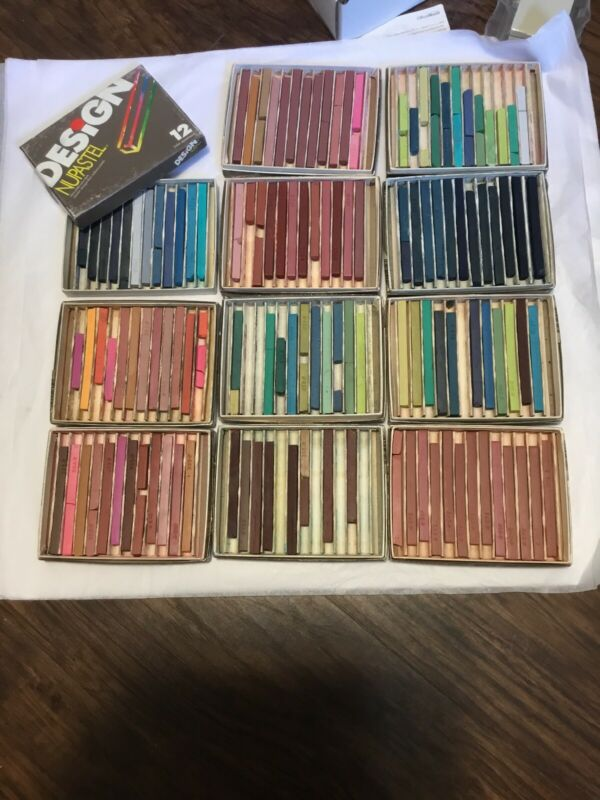 Vintage Eberhard Faber Nupastel 11 Boxes Of 12 Count Pastel Sticks