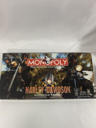Parker Brothers Monopoly Harley Davidson Authorized Edition Complete