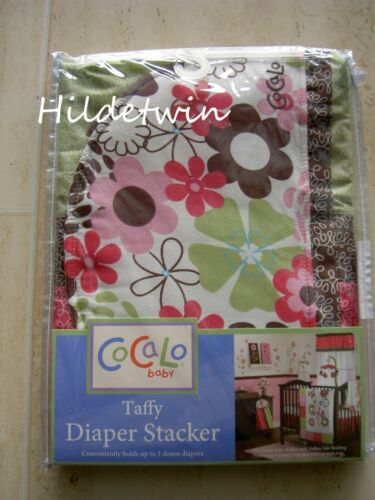 TAFFY COCALO BABY DIAPER STACKER FLOWERS PINK GREEN BROWN NIP
