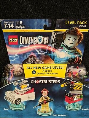 New/Sealed Lego Dimensions 71228 Ghostbusters Level Pack Peter Venkman Ecto 1