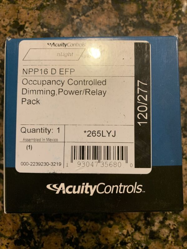 New Acuity Occupancy Controlled Dimming Power/Relay NPP16 D EFP 120/277VAC