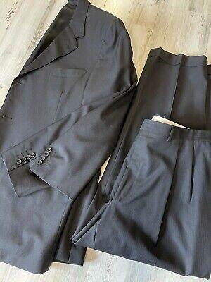 Canali Gray 3 Btn Wool Suit 48L (36x30)