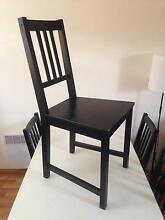 4 Black Timber Dining Chairs New Farm Brisbane North East Preview
