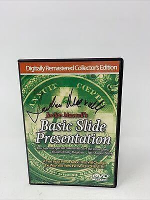 Jordan Maxwell's Basic Slide Presentation SIGNED!! RARE!! DVD