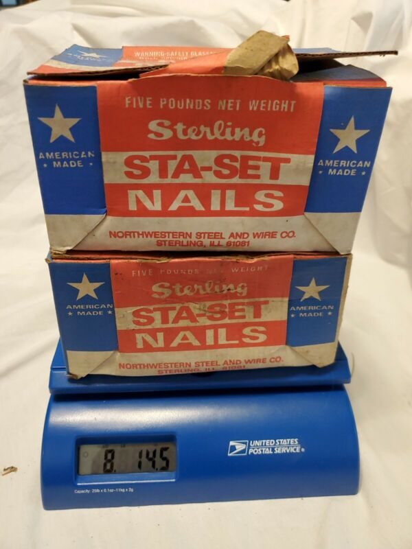 "Lot 8 lb 14 oz Sterling 16 Sinkers CC Nails 3-1/4"" BULK NAILS Made in USA"