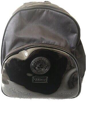 Versace black backpack