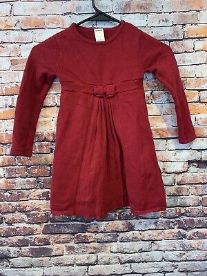 Gymboree Girls Red Holiday Long Sleeve Sweater Dress Size 5