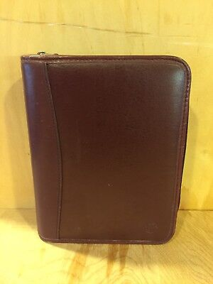 Compact Burgundy Sim. Leather Franklin Covey Planner 6 1 Rings