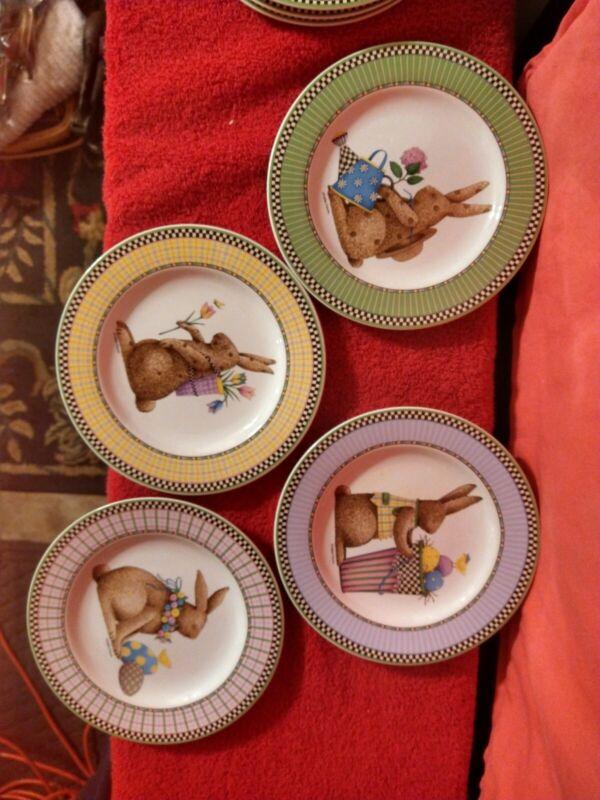 "Debbie Mumm Vintage Sakura Easter Bunny 81/4"" Plate 1998"