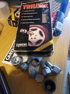 12-16 Black Locking Wheel Bolts 14x1.5 Nuts for Merc SLK-Class SLK55 AMG R172
