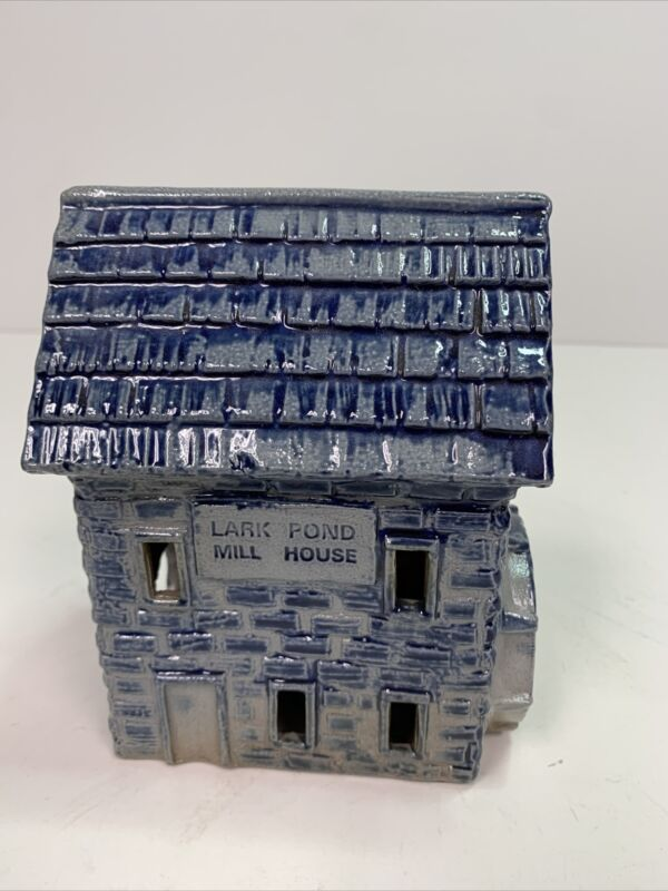 Rowe Pottery Lark Pond Mill House Cornerstone Village -Retired 1998- Salt Glazed