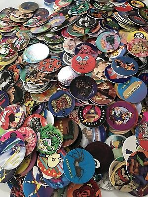 Pogs 100  Miscellaneous Variety Pogs From The 90 S Plus 1 Slammer