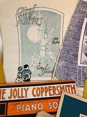 Vintage 1930's Sheet Music Set of -