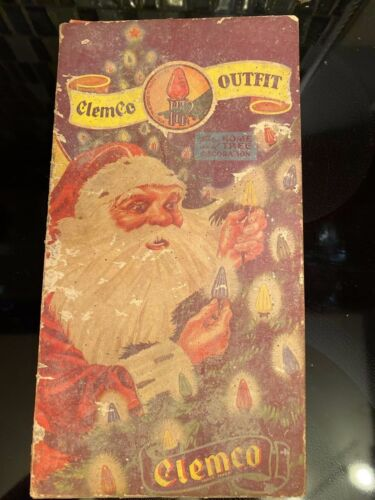 Vintage CLEMCO Outfit Christmas Lights (8) Set in Box ~ Works!