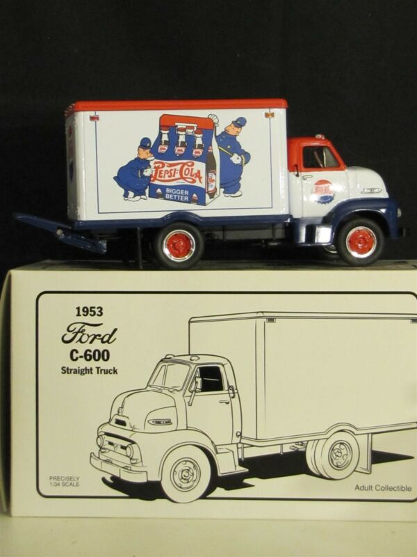 Pepsi-Cola 1953 Ford C-600 Straight Truck  1/34 Scale  1995 First Gear, Inc