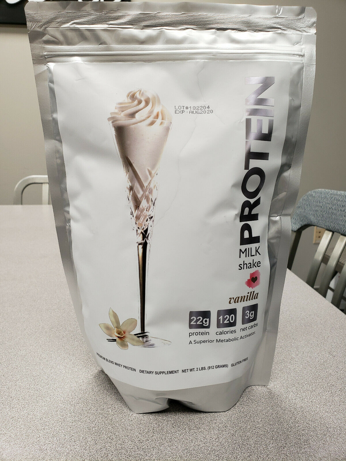 Vanilla Protein Milkshake Bar Powder 2 LB Bag 75% OFF RETAIL