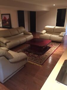 3 piece Italian leather couches