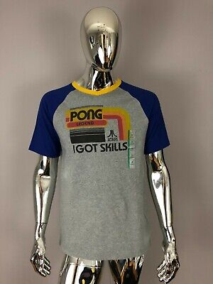 NEW Junk Food Atari Pong I Got Skills Gray Graphic T-SHIRT Size M