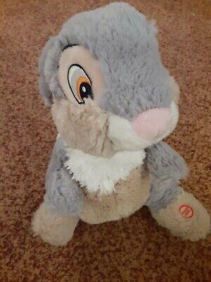 Disney Bambi Thumpin' Thumper Talking Plush Thumps His Foot Bunny Hallmark Soft
